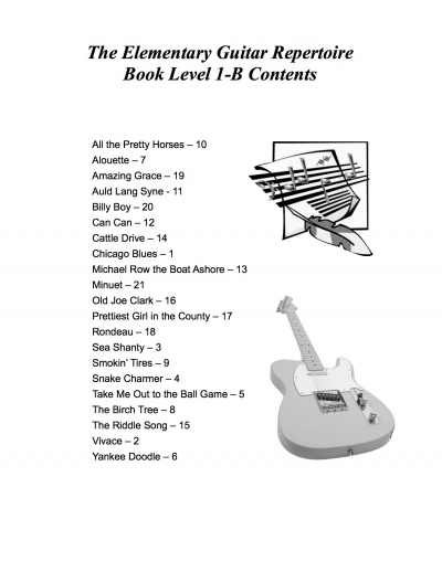 Elementary-Guitar-Rep-1B-Contents-Page
